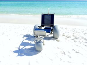 Reclining Beach Wheelchair with Extended Leg Rest - Cocoa Beach FL